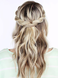 half up half down updo hairstyle