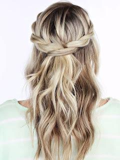 half up half down updo hairstyle