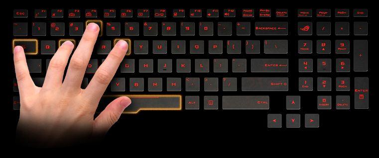 Asus ROG G752VS keyboard