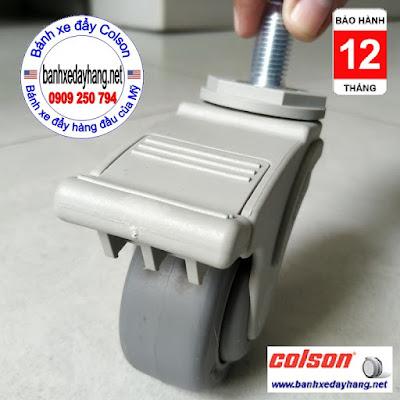 Bánh xe đẩy tiêm thuốc loại nhỏ 3 inch Colson USA | STO-3854-448BRK4 www.banhxepu.net