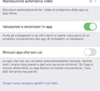 Rimozione app