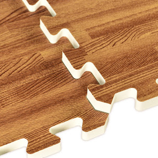 Greatmats foam tiles wood grain basement floor