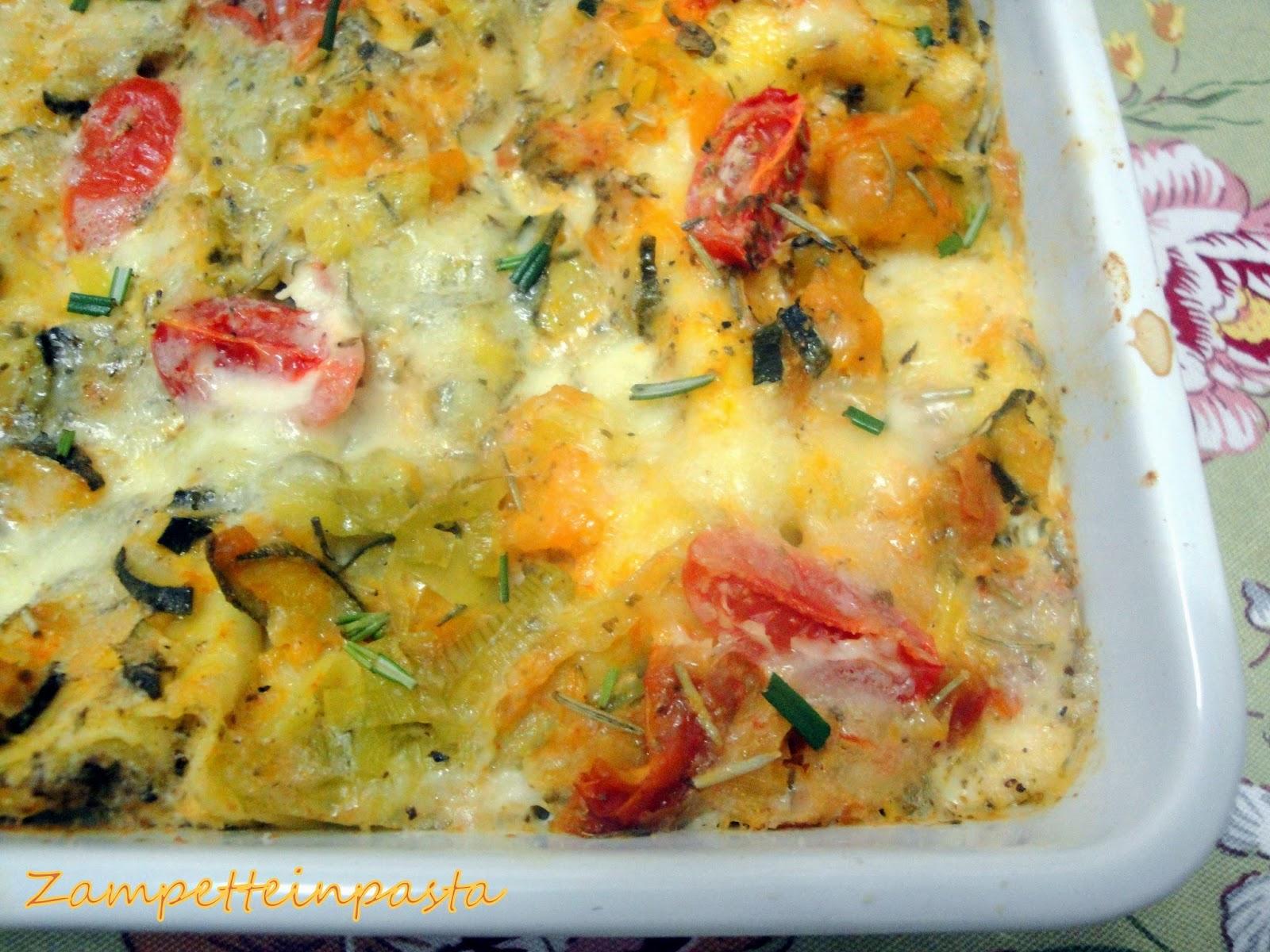 Lasagne vegetariane - Primo piatto con le verdure