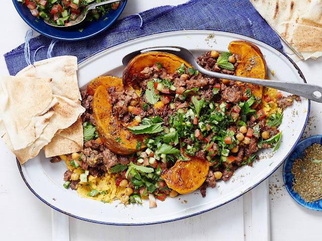 Crispy Lebanese Lamb And Chickpeas With Pumpkin Hummus Recipe