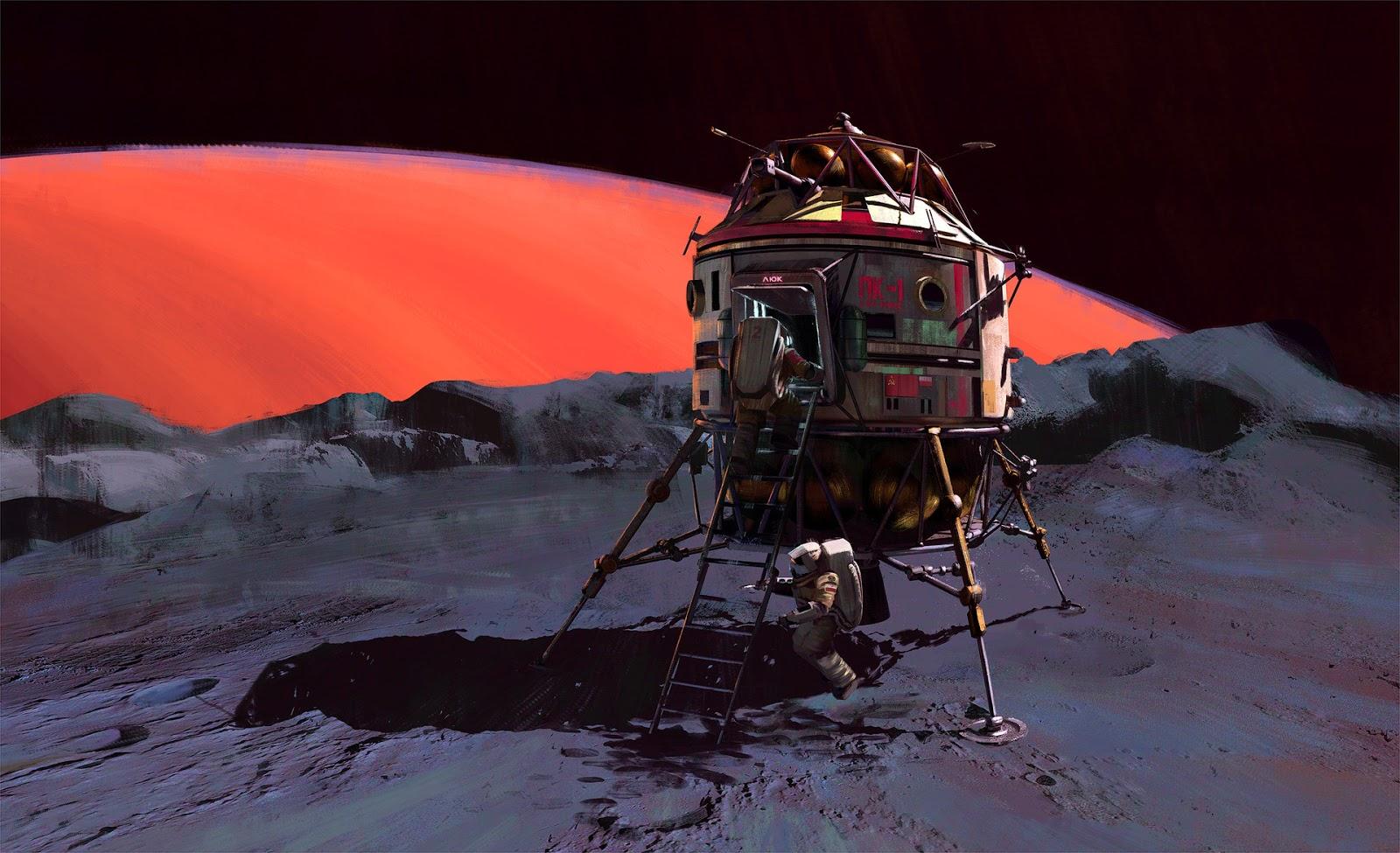 Soviet lander on Phobos by Maciej Rebisz