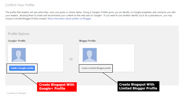 Make Blogspot Blog With Google+ Profile