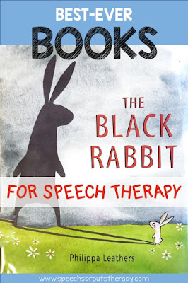 The Black Rabbit Book features a little bunny who is scared of his own shadow. A fun book for preschool and spring speech therapy