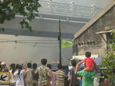 Kebakaran di Kampung Janis Jakarta Barat