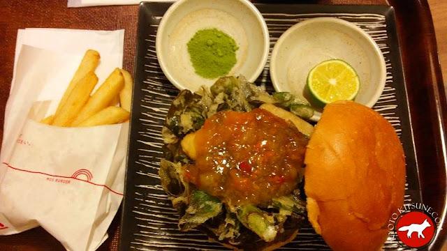 Burger spécial kyoto chez Mos burger Japon