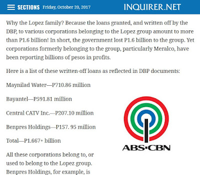 http://opinion.inquirer.net/16769/dbp-wrote-off-p1-6b-in-loans-to-lopez-group