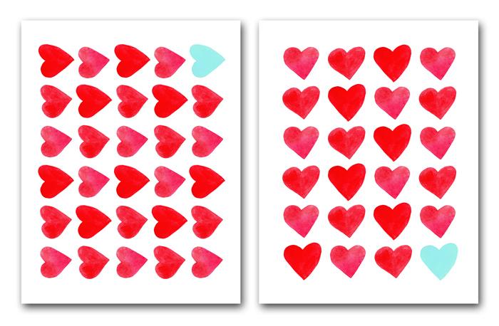 Watercolor Heart Printable