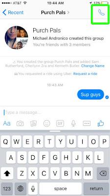 Cách gọi nhóm trên Facebook Messenger