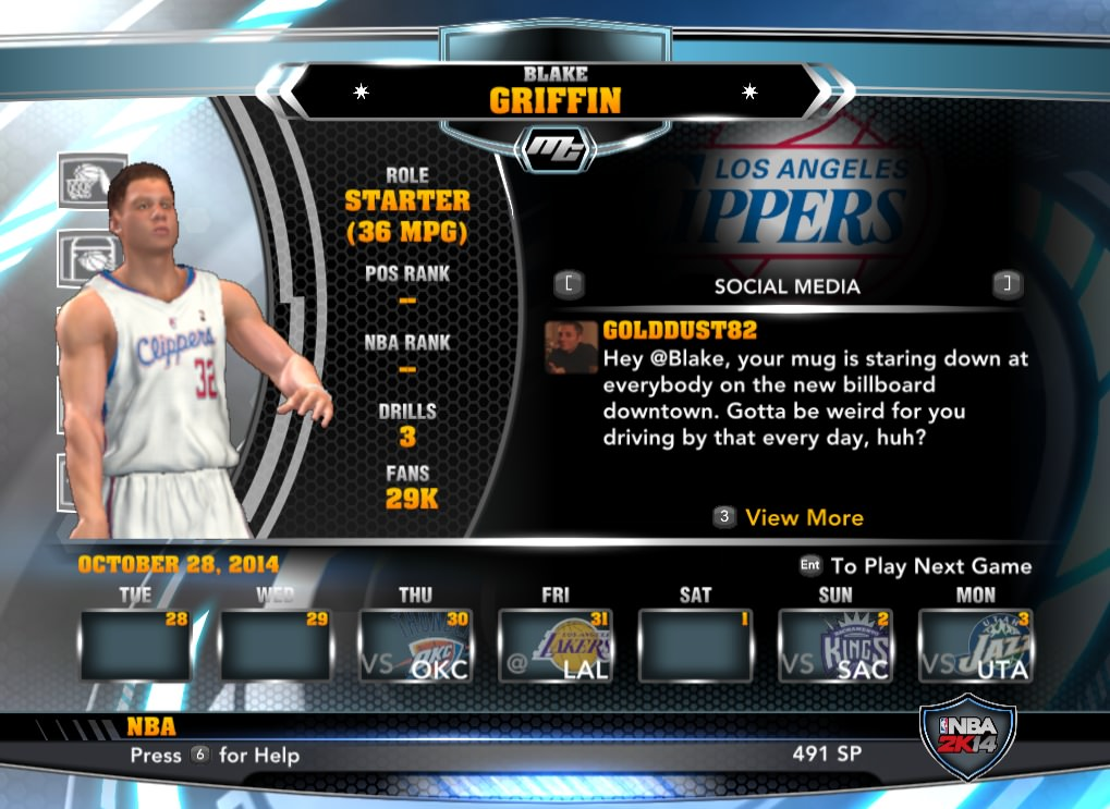 nba 2k14 Blake Griffin mycareer patch download hoopsvilla