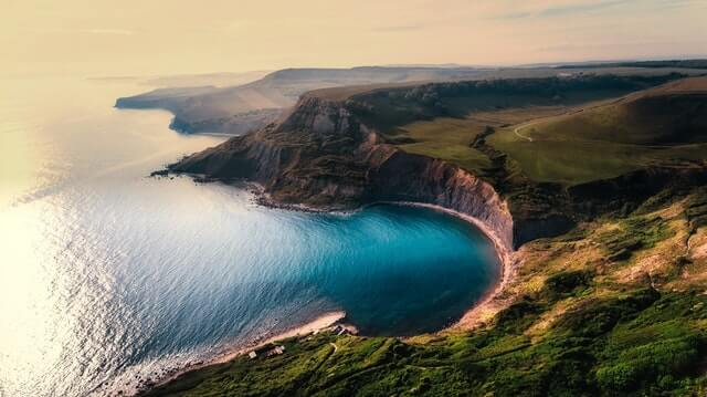 Aerial View Beach Beautiful Cliff HD Copyright Free Image