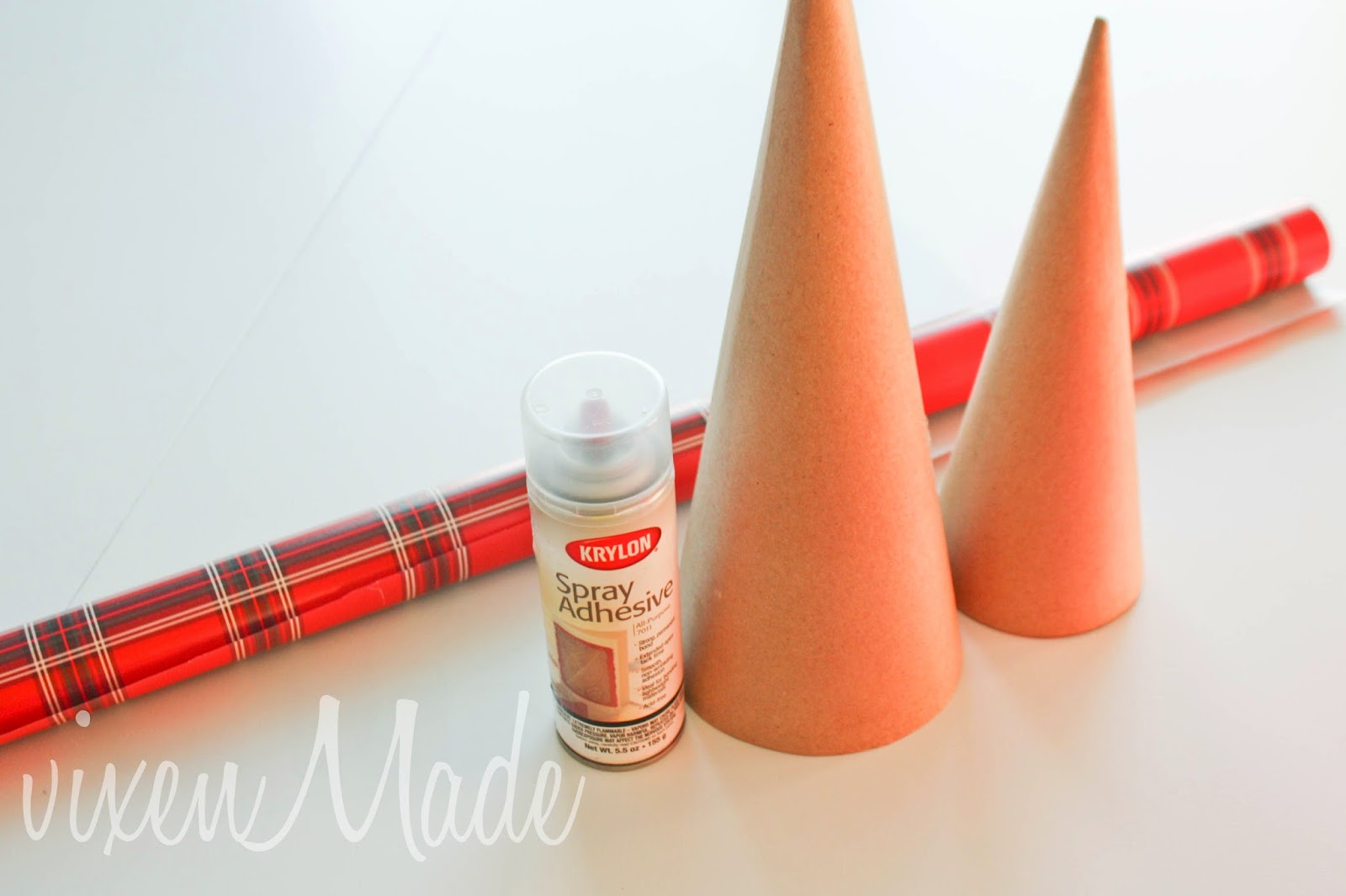 how to make a cone shape from cardboard