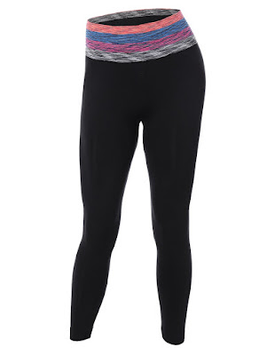 Striped Skinny Yoga Pants