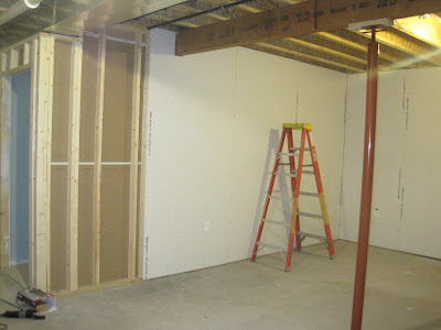 building on love: basement drywall