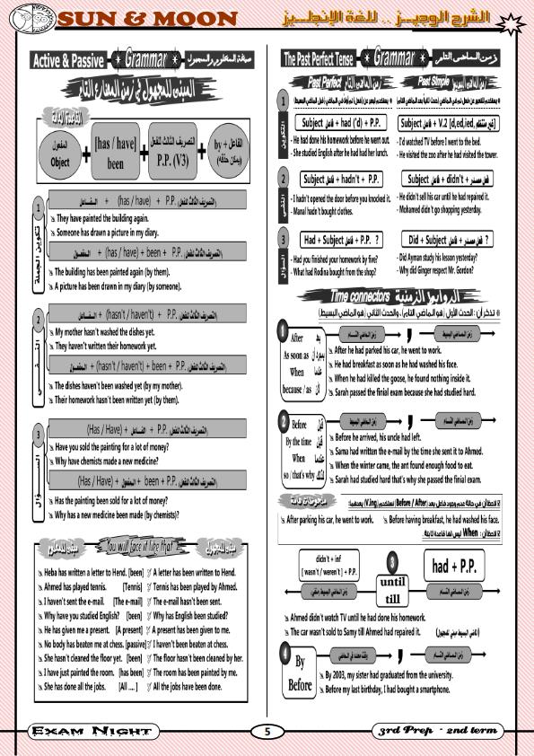لليلة الإمتحان.. مراجعة المختصر المفيد في اللغة الانجليزية للصف الثالث الاعدادي ترم ثاني Exam%2BNight-%2BSUN%2526MOON_006
