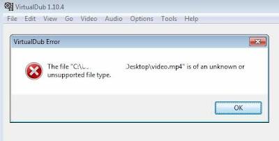 Come aprire file mp4 con virtualdub