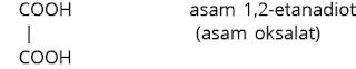 rumus struktur asam oksalat