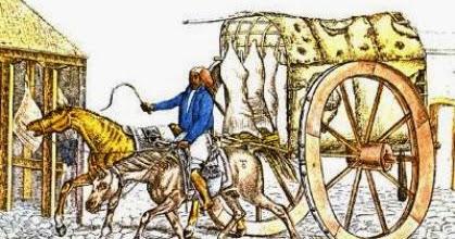 Carreta de carnicero antigua (época colonial)