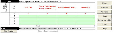 itr3, income tax return form itr3, income tax return form, itr 3 online efiling, e filing income tax return form, self assessment tax challan details