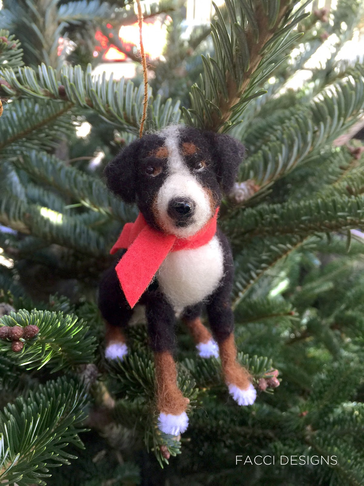 Facci Designs Custom Needle Felted Dog Ornaments