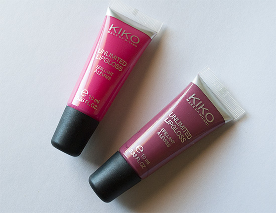 Kiko Milano Unlimited Lip Glosses (Hot Pink & Satin Mauve)