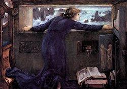 Dorigen esperando el regreso de su marido, por Burne-Jones