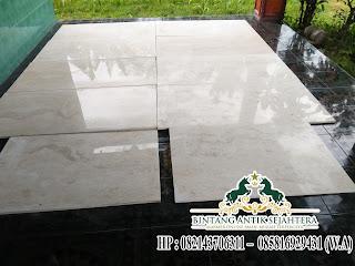 lantai marmer putih