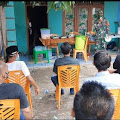 Himbau Prokes di Acara Hajatan,Danpos Koramil Turun Langsung