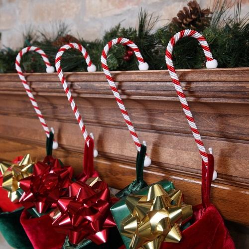 Pewter Christmas Stocking Hangers