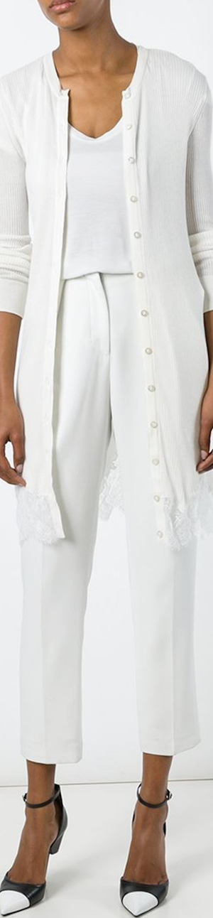 Givenchy Lace Hem Cardigan