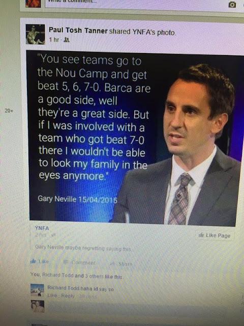 Gary Neville : Fans Liverpool Memalukan