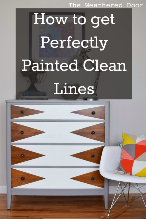 How To Paint Perfectly Clean Lines On Furniture