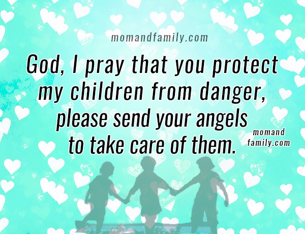 Protection prayer for my children, free christian family prayer, mom and family love by Mery Bracho, christian image.