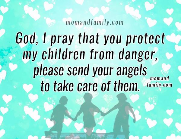 Protection prayer for my children, free christian family prayer, mom and family love by Mery Bracho, christian image.