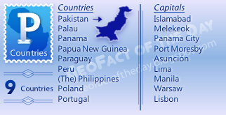 GeoFact of the Day: P Countries