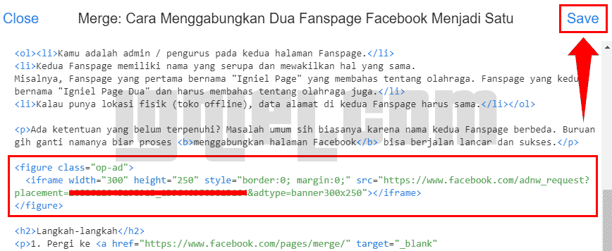 Cara Memasang Iklan Facebook Audience Network Di Blogspot
