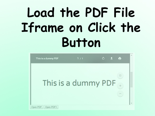 Load PDFs in Iframe Onclick the Button | Sanwebcorner