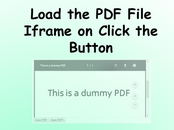 PDF ON BUTTON CLICK PDF
