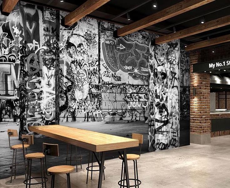 Motif dinding cafe terbaru yang instagramable