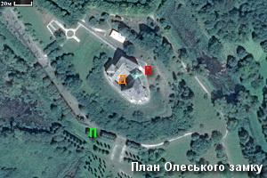 План-схема замку в Олеську