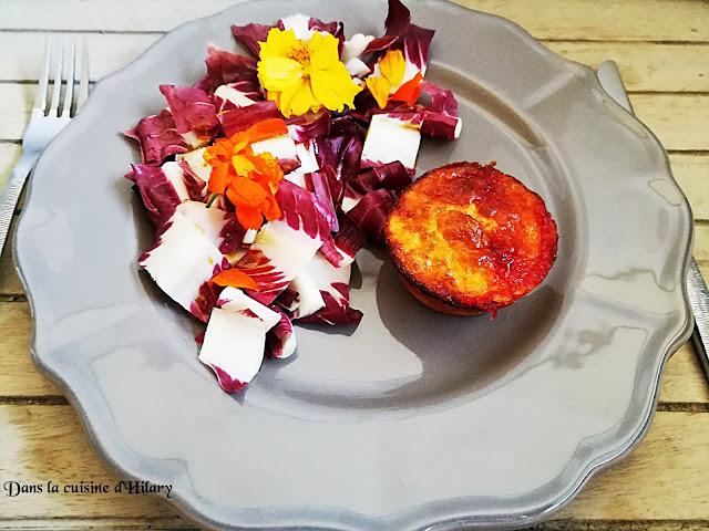Coeur coulant au fromage de brebis et confiture poivron rouge - framboise - Dans la cuisine d'Hilary
