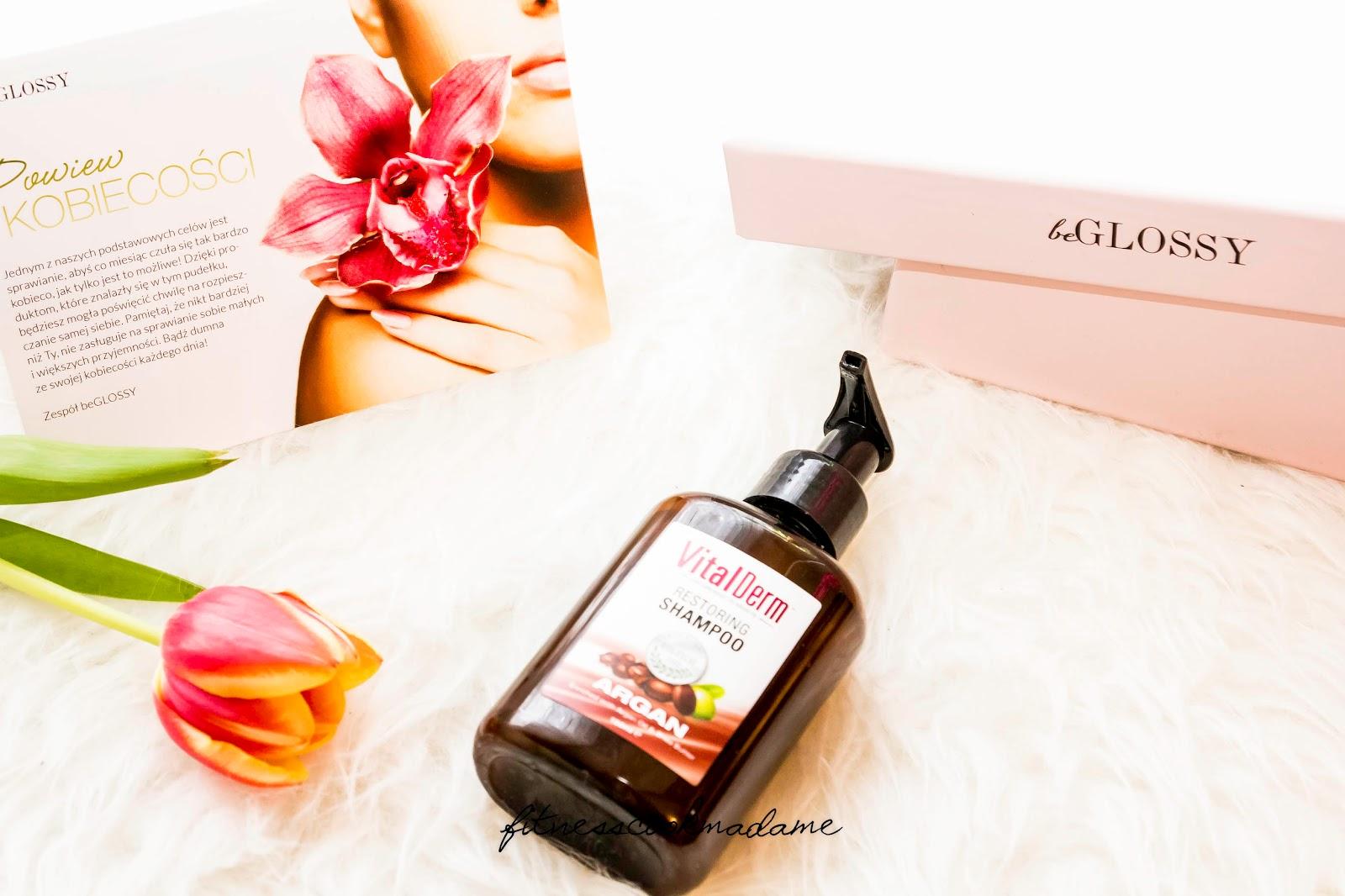 VITAL DERM- Odbudowujący szampon do włosów z olejem arganowym