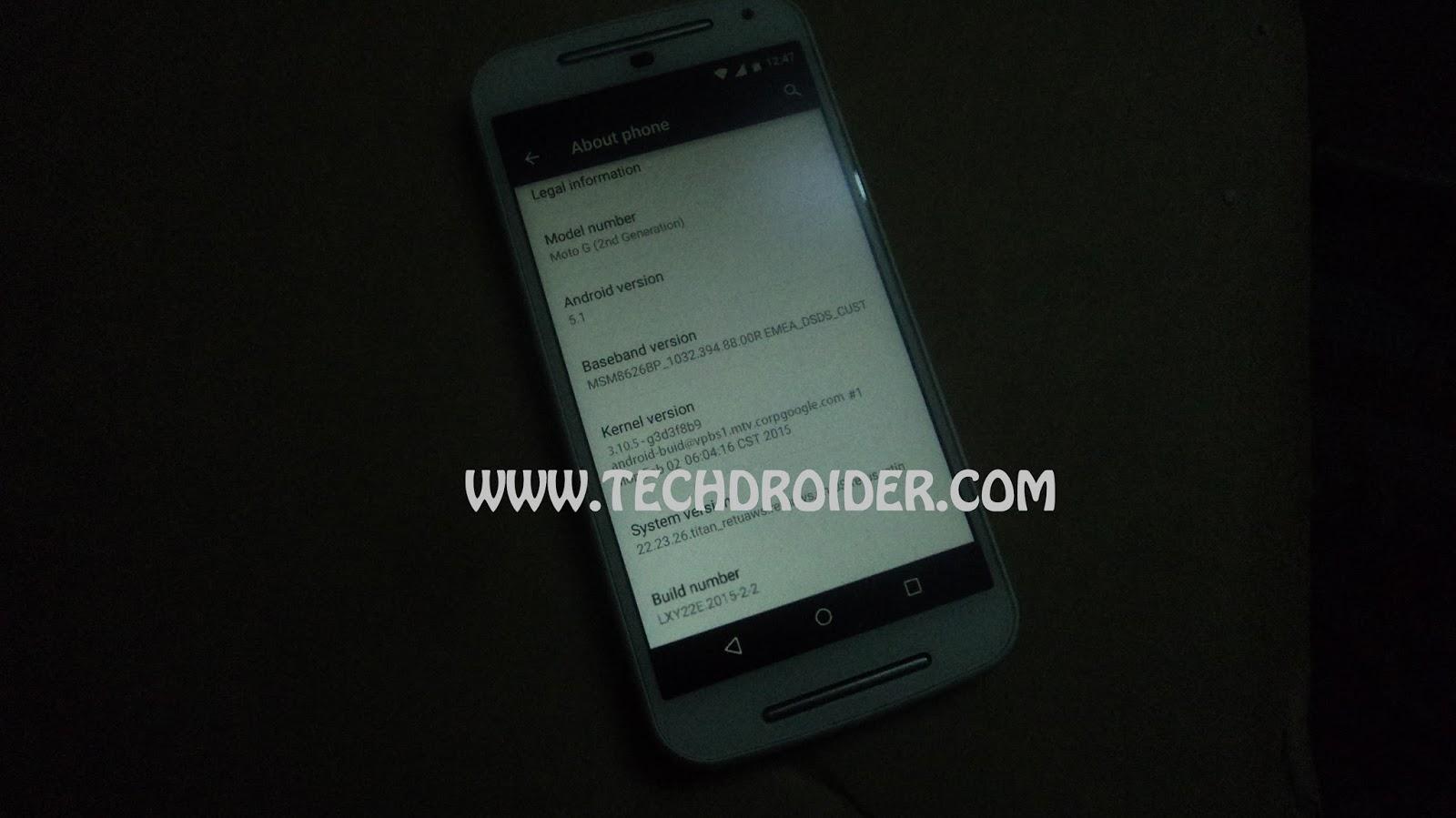 Moto G 2014 com Android 5.1? 1
