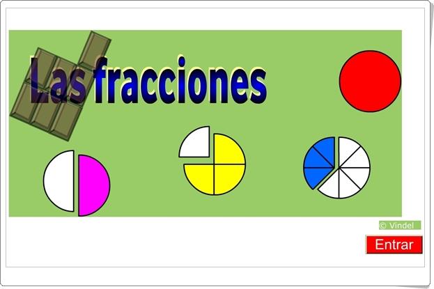 """""""Las fracciones"""" (Aplicación interactiva de Matemáticas)"""