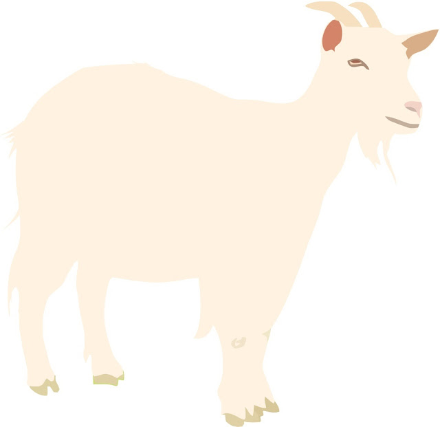 Cute Goat Clip Art Images Black And White ❤