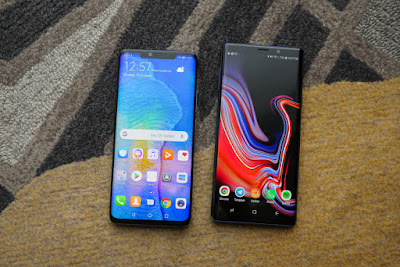 Samsung Galaxy Note 9 vs Huawei Mate 20 Pro 1