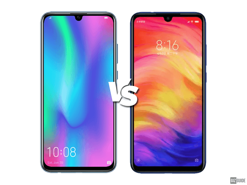 Honor 10 Lite vs Redmi Note 7 Specs Comparison